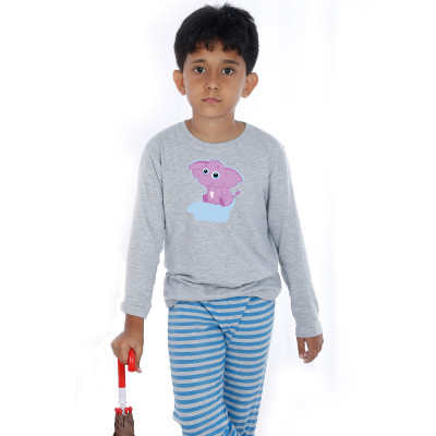 Grey Full Sleeve Boys Pyjama - Bunty